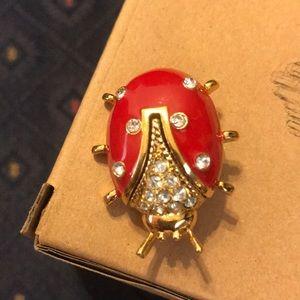 Vintage St John Ladybug Brooch Like New